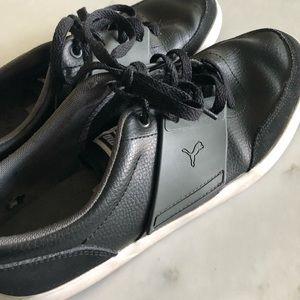 Puma El Ace 4 Black leather | Size: 10